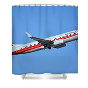 American Boeing 737-823 N915nn Retro Twa Phoenix Sky Harbor January 12 2015 Shower Curtain