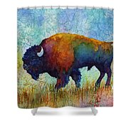 American Buffalo 5 Shower Curtain