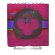 American Cats And Poppies Shower Curtain