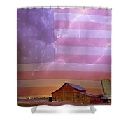 American Country Stormy Night Shower Curtain
