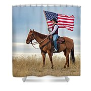 American Cowgirl Shower Curtain