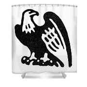 American Eagle, 1854 Shower Curtain