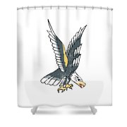 American Eagle Tattoo Shower Curtain