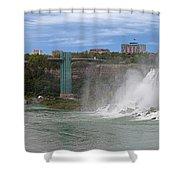 American Falls And Rainbow Bridge Shower Curtain
