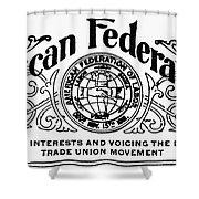 American Federationist Shower Curtain