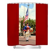 American Fife And Drum Corp Flag Carrier Shower Curtain