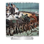 American Financiers, 1883 Shower Curtain