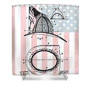 American Firefighter's Helmet Shower Curtain