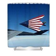 American Flag F 117 Nighthawks Shower Curtain