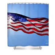 American Flag Fort Sumter Shower Curtain