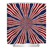 American Flag Kaleidoscope Abstract 6 Shower Curtain