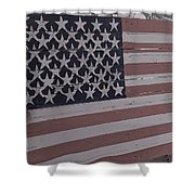 American Flag Shop Shower Curtain