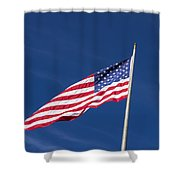American Flag Waving In The Breeze Shower Curtain