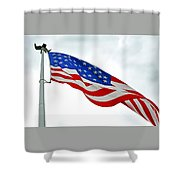 American Flag With Eagle Shower Curtain