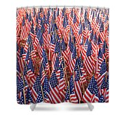 American Flags In Tampa Shower Curtain