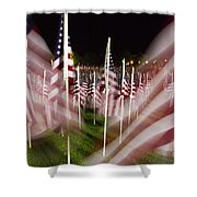 American Flags Tribute To 9-11 Shower Curtain