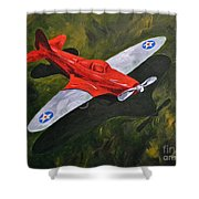 American Flyer Shower Curtain