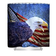 American Freedom  Shower Curtain by Nicole Markmann Nelson