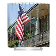 American French Quarter Shower Curtain