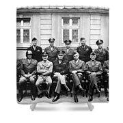 American Generals Wwii  Shower Curtain