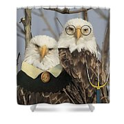 American Gothic Eagle Style Shower Curtain