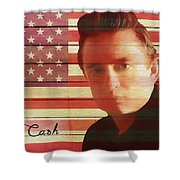 American Icon Johnny Cash Shower Curtain