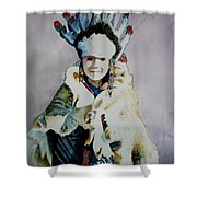American Indian Girl Shower Curtain
