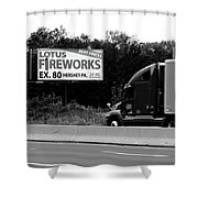 American Interstate - Pennsylvania I-80 Bw 2 Shower Curtain