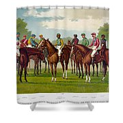 American Jockeys, 1889 Shower Curtain