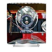 American Lafrance Vintage Fire Truck Gas Cap Shower Curtain
