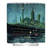 American Line, New York Shower Curtain