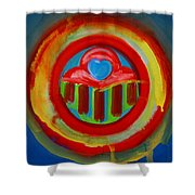 American Love Button Shower Curtain