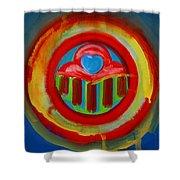 American Love Button Shower Curtain