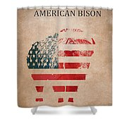 American Mammal The Bison Shower Curtain