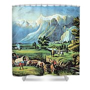 American Manifest Destiny, 19th Century Shower Curtain