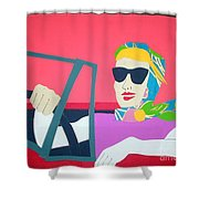 American Mask Shower Curtain