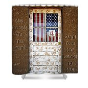 American Native Finger Prints Shower Curtain