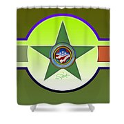 American Olive Shower Curtain