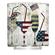 American Party Shower Curtain