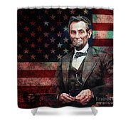 American President Abraham Lincoln 01 Shower Curtain