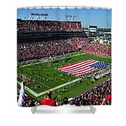 American Pride Bucs Style Shower Curtain by David Lee Thompson