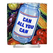 American Propaganda Poster Promoting Canned Food Shower Curtain