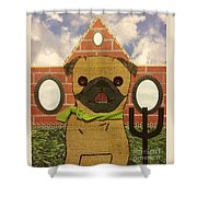 American Pug Gothic Shower Curtain