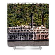 American Queen Riverboat Shower Curtain