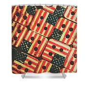 American Quilting Background Shower Curtain