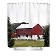 American Red Barn II Indiana Shower Curtain