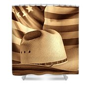 American Rodeo Cowboy Hat Shower Curtain