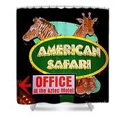 American Safari Motel Shower Curtain