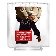 American Sailor -- Ww2 Propaganda Shower Curtain
