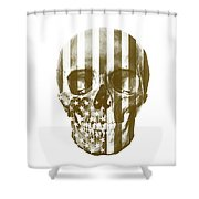 American Skull Beige Shower Curtain